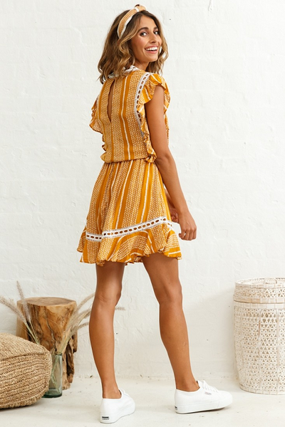 Penelope Flutter Mini Dress