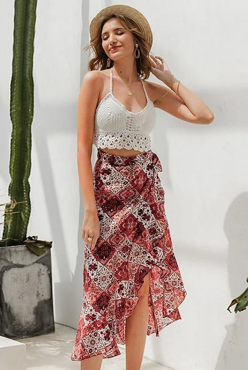 Percy Wrap Maxi Skirt