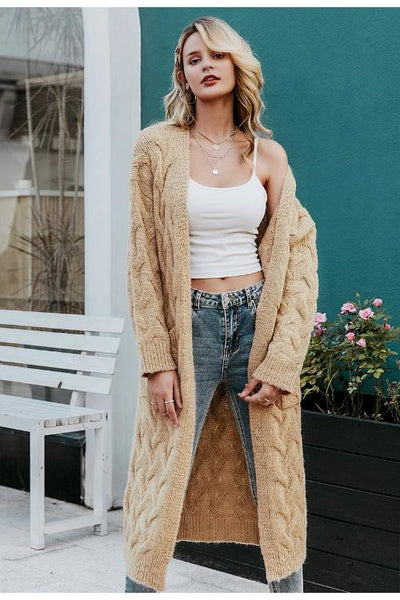 Avery Knitted Long Cardigan