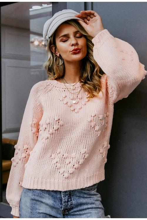 Mavy Knitted Pompom Sweater