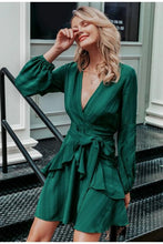 Load image into Gallery viewer, Wynona Ruffled Green Dress