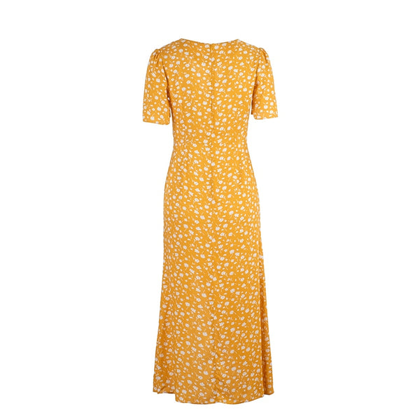 Golden Pretending Midi Dress