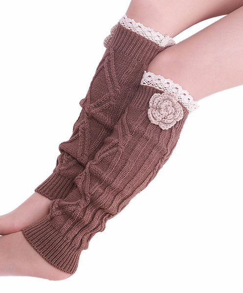 Crochet Flower Leg Warmers, Leg Warmers, Floral and Lace Design, lovepeaceboho