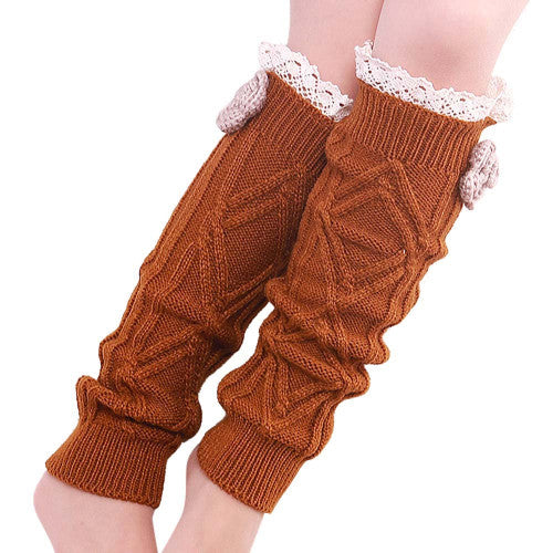 Crochet Flower Leg Warmers