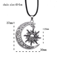 Load image into Gallery viewer, Crescent Moon And Sun Charm Pendant