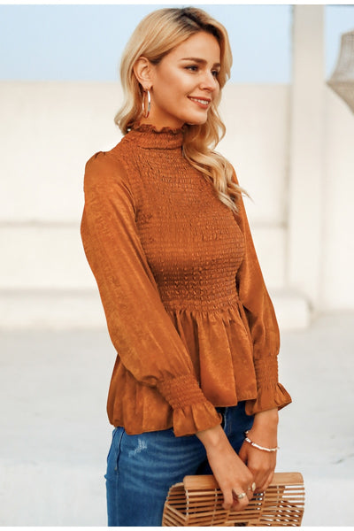 Avana Shirred Peplum Top