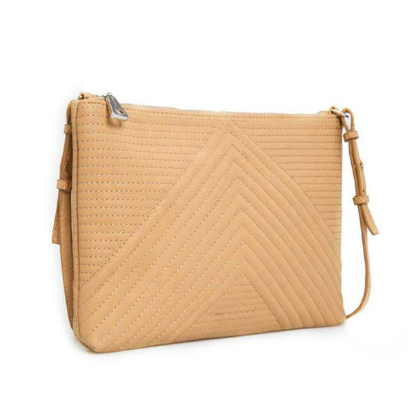 Stripe Design Clutch with Strap