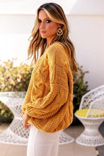 Load image into Gallery viewer, Jaana V-Neck Cable Knit Sweater