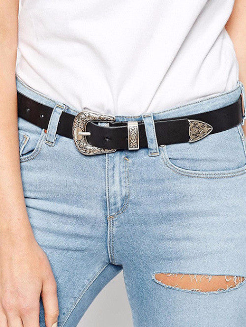 Carved Metal Single Buckle Belt, belts, lovepeaceboho, lovepeaceboho