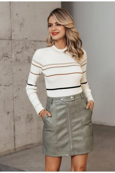 Reiza Striped Knitted Sweater