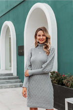 Load image into Gallery viewer, Clariz Cable Knit Sweater Dress