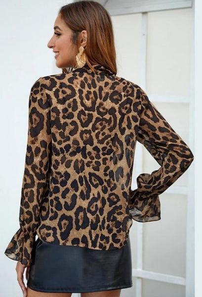 Lamara Ribbon Leopard Top