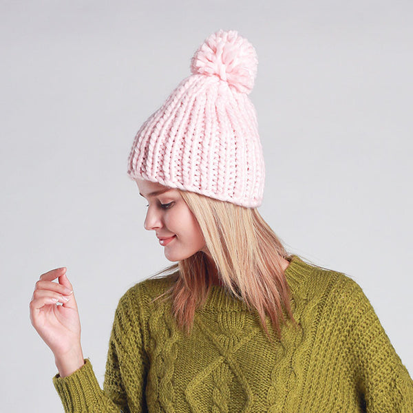 Cable Knit Pom Pom Beanie [7 Variants]