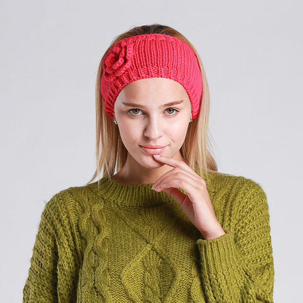 Floral Knitted Head Band [5 Variants]