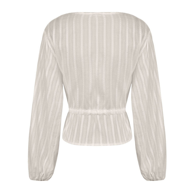 Nadya Striped Peplum Blouse