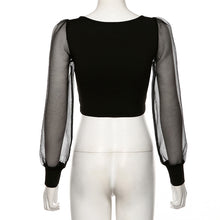 Load image into Gallery viewer, Tilena Meshed Sleeve Top