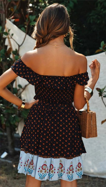 Shahana Off-Shoulder Mini Dress