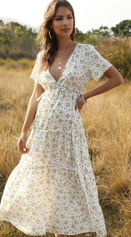 Paula Frilled Maxi Dress