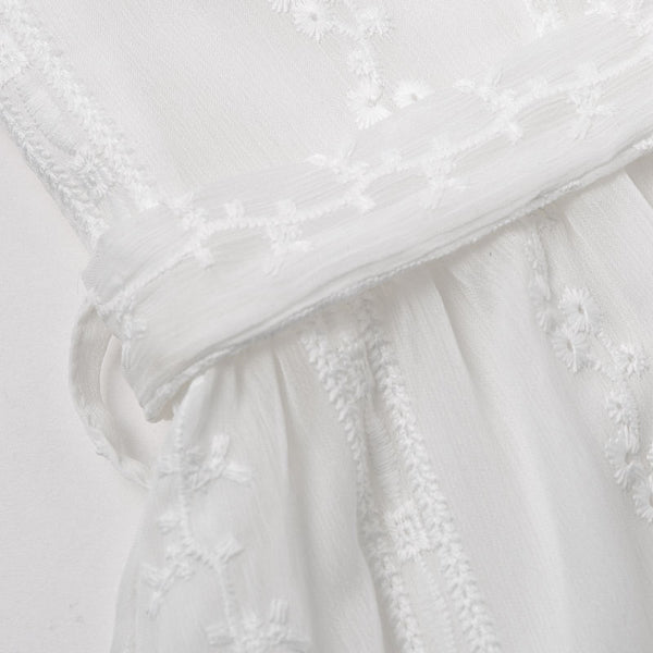 Melisa Embroidered White Dress