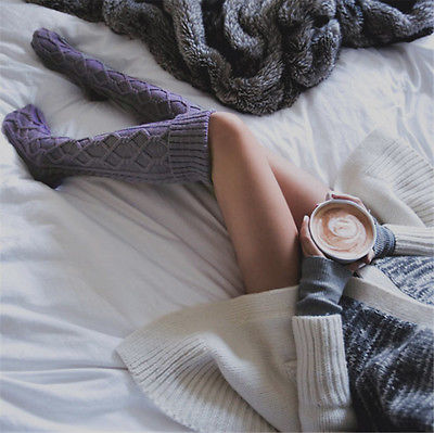 Cable Knit Over Knee Socks