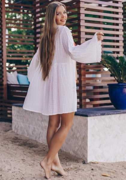 Marisa Sheer Shirt Dress