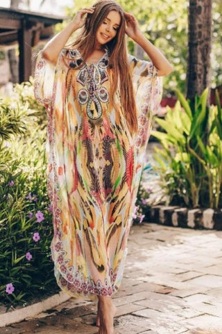 Colorway Vibrant Print Kaftan