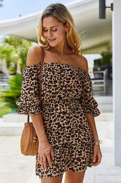 Devona Leopard Mini Dress