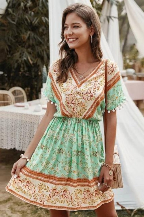 Melinda Bohemian Mini Dress