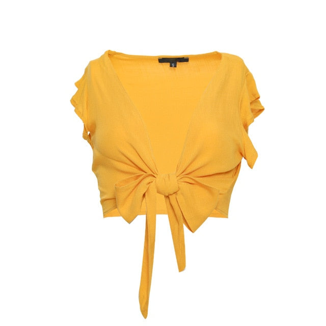 Monique Ruffled Tie Top