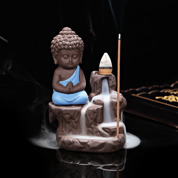Little Buddha Back flow Incense Burner, Back-flow Incense Burner, lovepeaceboho