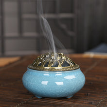 Load image into Gallery viewer, Celadon Ceramic Burner, Backflow Incense Burner, Ceramic Burner, lovepeaceboho