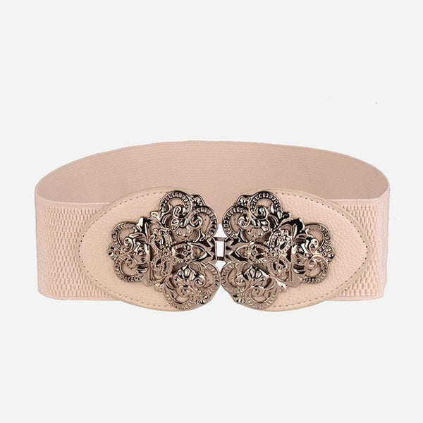 Wide Elastic Waist Belt