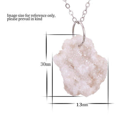 Druzy Crystal Simple Statement Necklace, Necklace, lovepeaceboho, lovepeaceboho