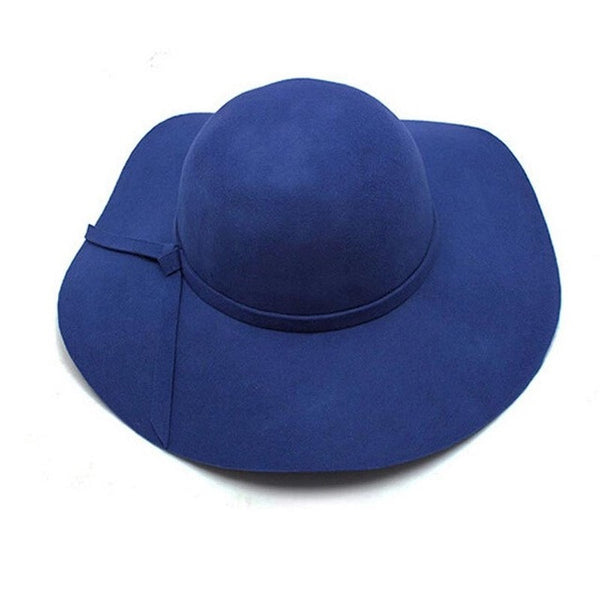 Wool Wide Brim Floppy Hat