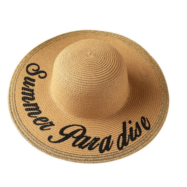 Summer Paradise Straw Hat, Hat, Straw Hat, lovepeaceboho