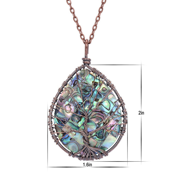 Handmade Wrapped Abalone Necklace