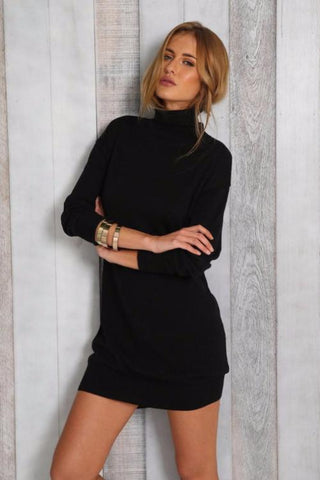 Aura Turtleneck Bodycon Dress