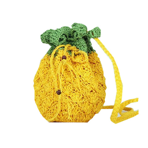Knitted Pineapple Bag, Pineapple Bag, Bag, lovepeaceboho