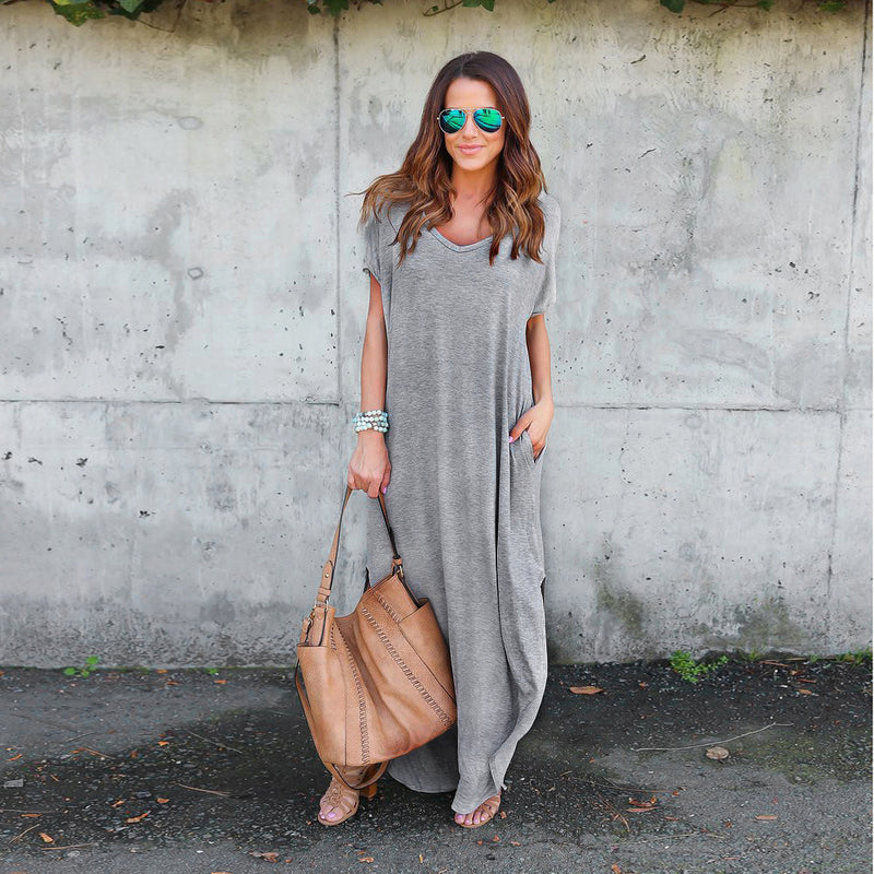 Analeah Maxi Shirt Dress