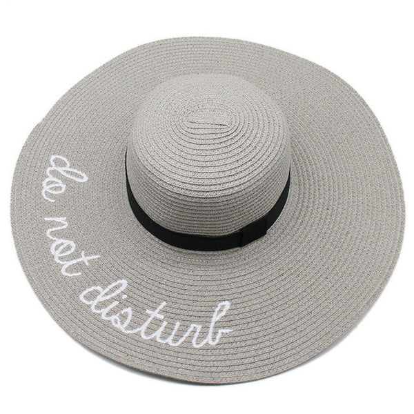 """Do Not Disturb"" Straw Hat"