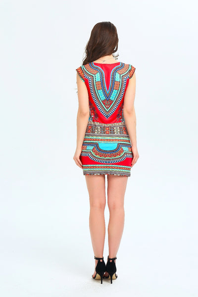 [FINAL SALES] Dahlia Dashiki Bodycon Dress
