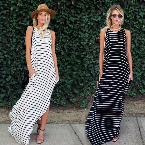 Camille Striped Maxi Dress
