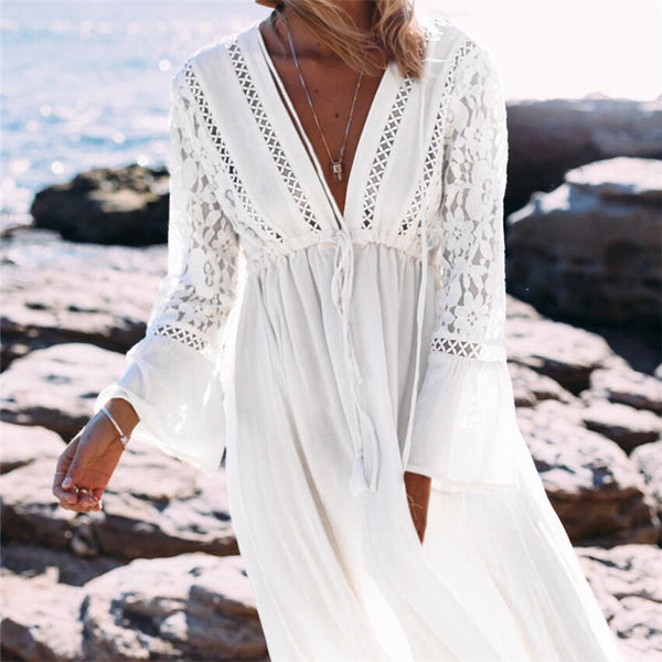 Alexandria White Maxi Dress