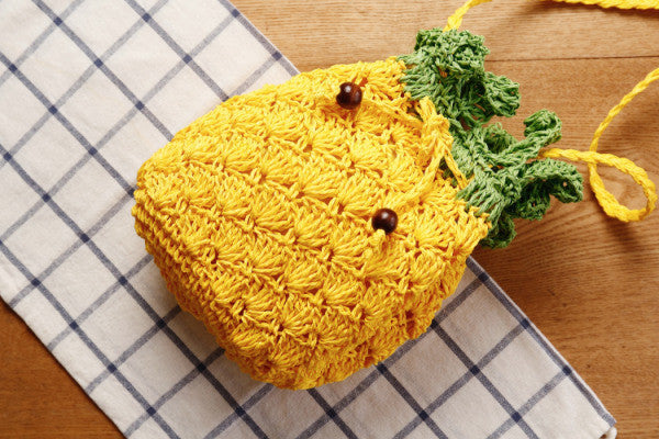 Knitted Pineapple Bag