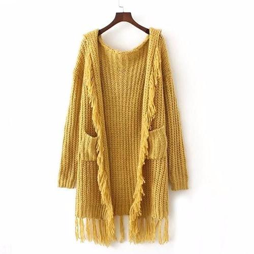 Leila Tassel Hooded Cardigan