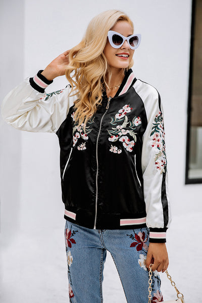 Reversible Embroidered Bomber Jacket