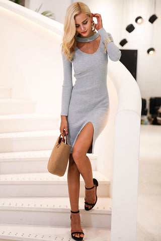 Lacy Bodycon Knit Dress