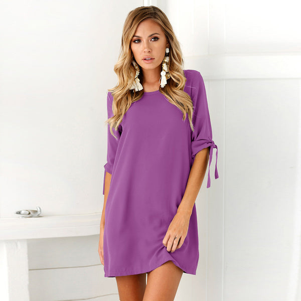 Ellie Bowknot Shirt Dress