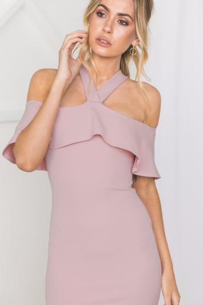 Miranda Bare Shoulder Bodycon Dress