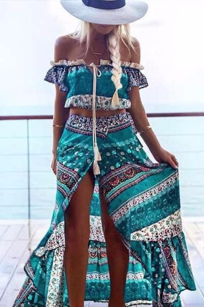 Alicia Two Piece Maxi Dress